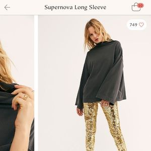 Free People Supernova long sleeve top